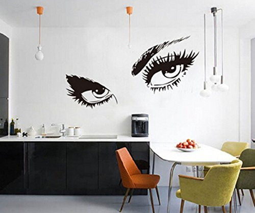 Audrey Hepburn's Eyes Removable Vinyl Wall Stickers Mural Home Art Decal Kids Room ()