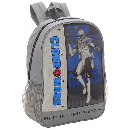 Clone Wars Backpack - Star Wars Clone Wars Supreme Power 16 inch Backpack - Grey