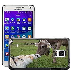 Hot Style Cell Phone PC Hard Case Cover // M00110053 Dog Cow Dolomites Fassa Meetings // Samsung Galaxy Note 4 IV