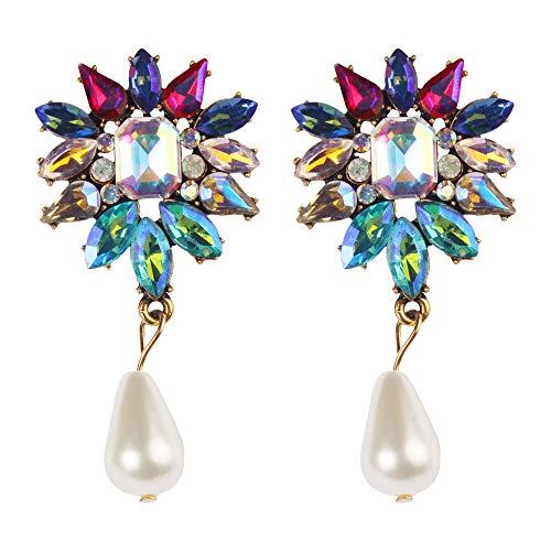Topgee Earrings - Daily Wear Ear Earrings Earrings Fashion Alloy Earrings Hoop Dangle Earrings Flash Earrings Women's Favorite Exaggerated Retro Metal ()