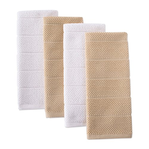 a-Absorbent Cleaning Drying Luxury Chef Terry Dish Towels for Everyday Kitchen Basic 16 x 26