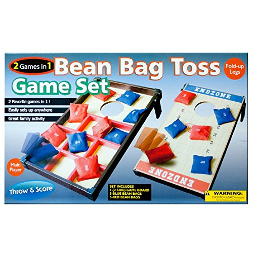 Daily Basic Party Family and Friends Fun 2 In 1 Bean Bag Toss Game Set - Toss 'n' Score and Toss - Tac - Toe by Daily Basic