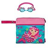 Stephen Joseph Girls Mermaid Wet Dry Bag and Swim Goggles