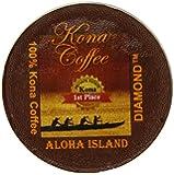 Aloha Island Coffee Company Private Reserve Diamond Pure Kona Keurig K-Cups Coffee, 12 Count