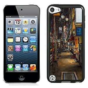 NEW Unique Custom Designed iPod Touch 5 Phone Case With Urban drawing_Black Phone Case
