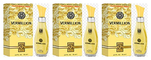 Lot of 3 VERMILLION for Women comparable to Yellow Diamond by Versace 2.5oz - Range Price Versace