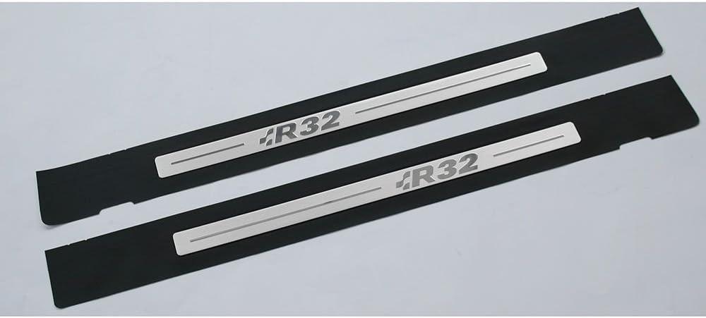 Original Golf 4 1j R32 Einstiegsfolien Set 4 Türer Tuning Einstiegsleisten Trittleisten 2x Schutzfolie Vorn Schwarz Silber Auto