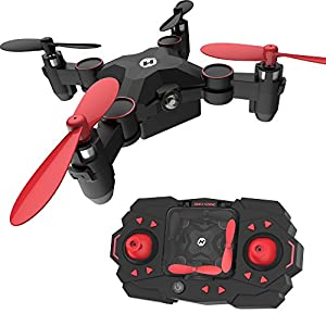 Holy Stone HS190 Foldable Mini Nano RC Drone for Kids Gift Portable Pocket Quadcopter with Altitude Hold 3D Flips and Headless Mode Easy to Fly for Beginners