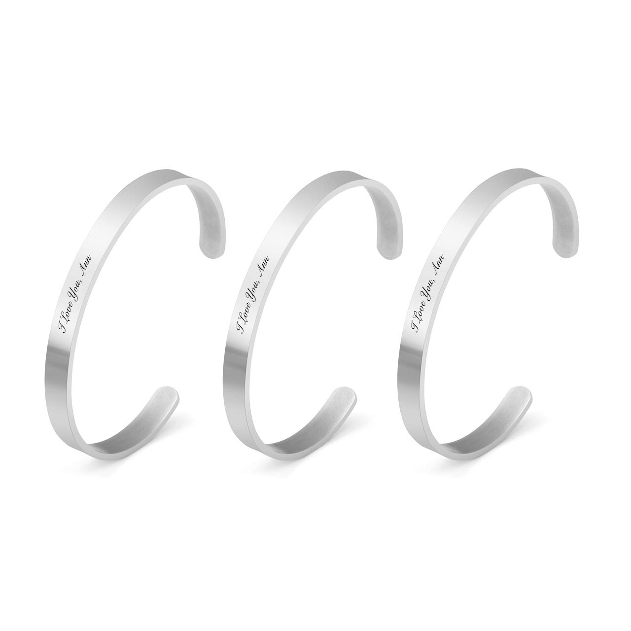 Zysta Inspirational Cuff Bangle Bracelet Stainless Steel Difficult Tough Time Secret Message Mantra Encouraging Gift
