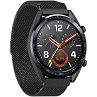 Stainless Steel Replace Mesh Band Strap for Huawei Magic/Watch GT/Ticwatch Pro black