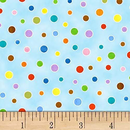 Elizabeth's Studio On the Go Polka Dot Blue, Fabric by the Yard ()