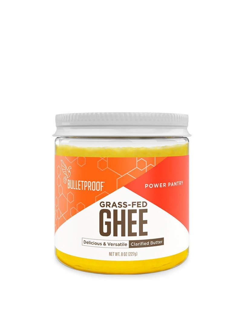 Bulletproof Grass-Fed Ghee, Quality Clarified Butter Fat from Pasture-Raised Cows, Gluten-Free, Non-GMO (8 oz)