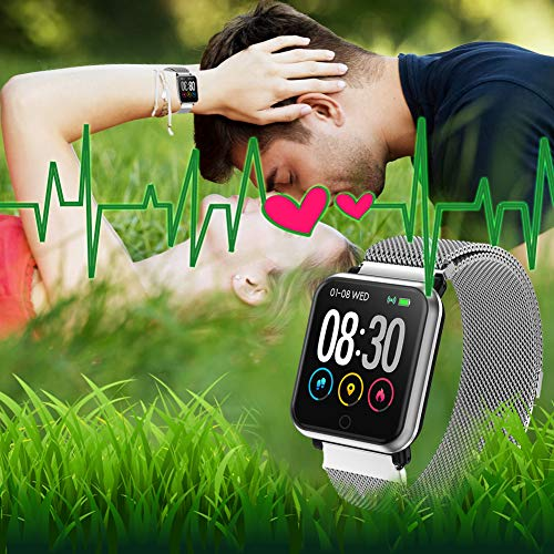 LEKOO Fitness Tracker Activity Tracker with Heart Rate Monitor Waterproof SmartWatch with Step Counter Fit Watch Sleep Monitor Step Counter for Men and Women