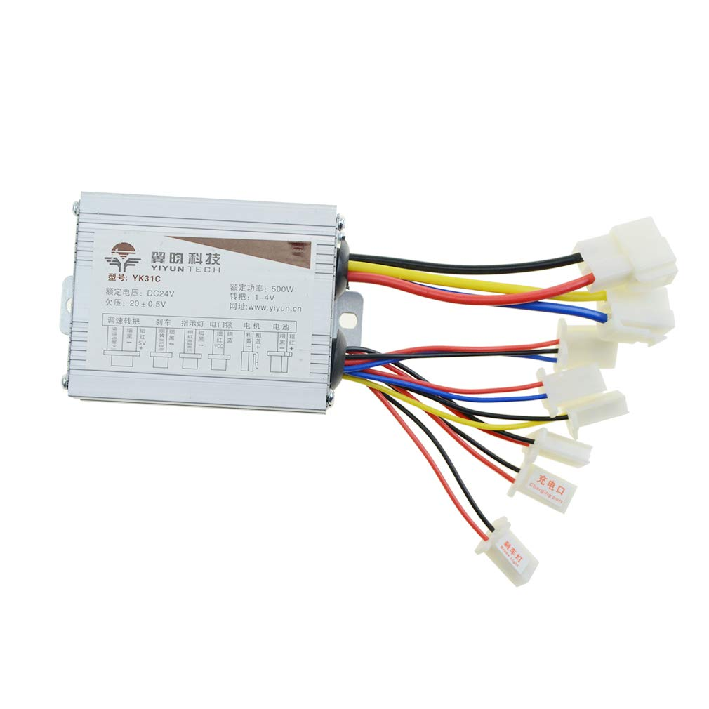 WOOSTAR Control Box 24v 500w Motor Speed Controller for Electrical Scooter E Bike Bicycle Tricycle Brush Motor