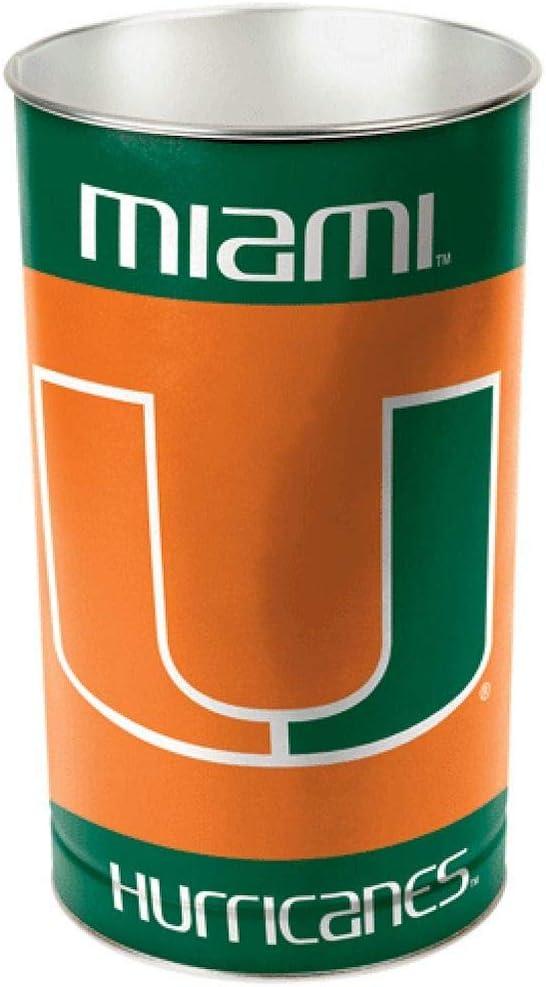 Wincraft Miami Hurricanes Wastebasket