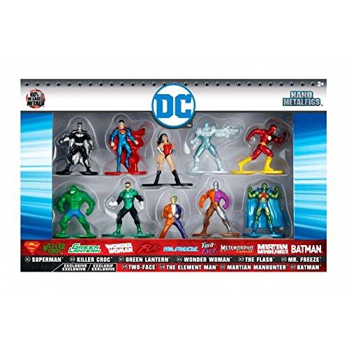 Nano Metalfigs DC Comics 10-Pack Set 1 Mini Diecast Figures