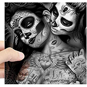 Cafepress dia de los muertos sticker square bumper sticker car decal 3x3 small or 5x5 large