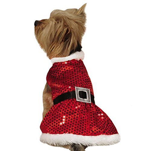 Zack & Zoey Zz Mrs Claus Sequin Dress L Red -