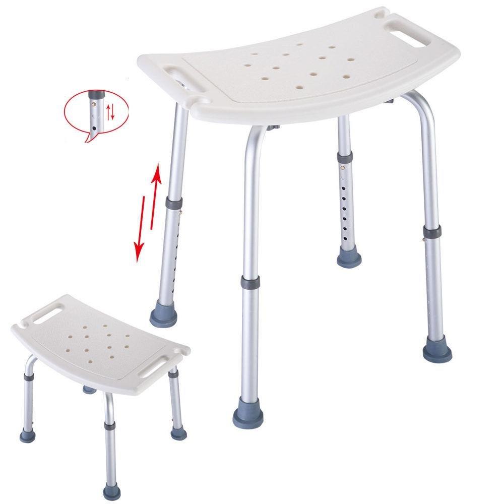 FCH Height Adjustabel Bath Seat Medical Bathroom Bathtub Chair Safety Bath Tub Bench Shower Stool Bench Backless