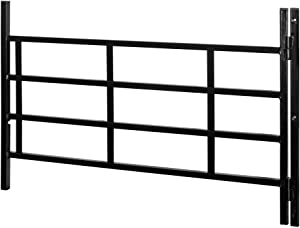 Defender Security S 4779 4 Bar Hinged Window Guard, 31-Inch - 54-Inch x 21-Inch, Black