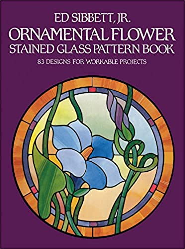amazon ornamental flower stained glass pattern book 83 designs