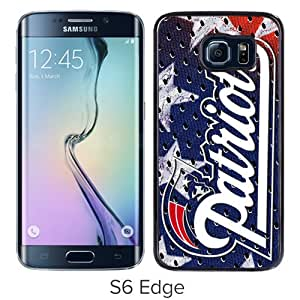 Fashionable And Unique Designed Case For Samsung Galaxy S6 Edge Phone Case With New England Patriots 02 Black