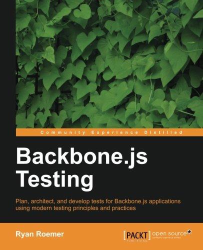 Backbone.js Testing by Ryan Roemer, Publisher : Packt Publishing