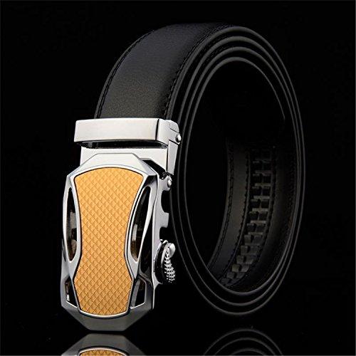 Meetloveyou designer automatic buckle Cowhide Leather men luxury fashion Man business belts for men (Lounge Chair Kohls)