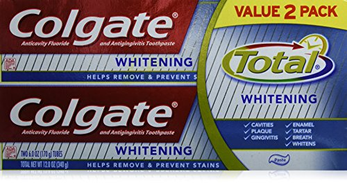 Colgate Total Whitening Paste - 2 Twin Packs (Four 6 Ounce Tubes)