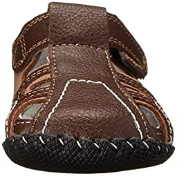 pediped Brody Originals Fisherman Sandal (Infant/Toddler),Brown Tan,Medium (12-18 Months)