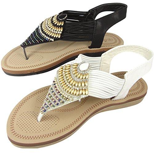SavannahF0989 - Zapatos con correa de tobillo mujer negro