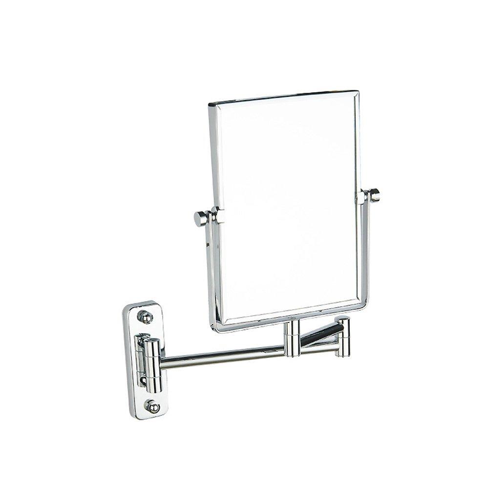 Badezimmer make-up spiegel, Square make-up mirror Wandmontage Erweiterbarer badezimmerspiegel Zweiseitige schwenkbare Schönheit-spiegel Badezimmer Hotel-Silber