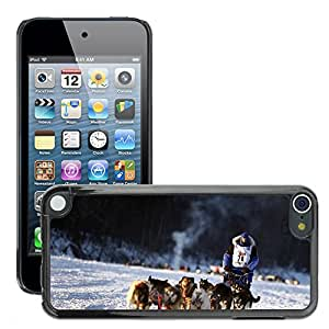 Etui Housse Coque de Protection Cover Rigide pour // M00113693 Perros de trineo del equipo Dogsled // Apple ipod Touch 5 5G 5th