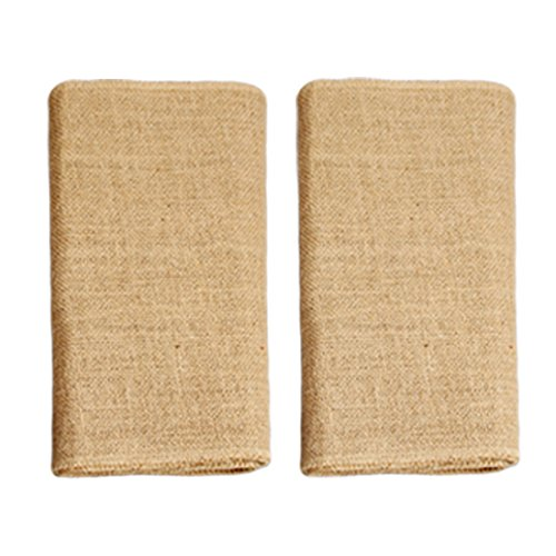 Ivankee 2 Pack Burplap Table Runners,12 X 108 Inches,Natural Jute Hessian Table Runner,Perfect For Rustic Party & Events -