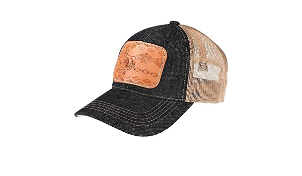 McIntire Saddlery Womens Ladies Tooled Leather Texas Cap OS Multi at Amazon  Women s Clothing store  36f08226fe43