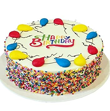 Amazon triolos bakery vanilla birthday cake happy birthday triolos bakery vanilla birthday cake happy birthday greeting vanilla frosting and colorful sprinkles m4hsunfo