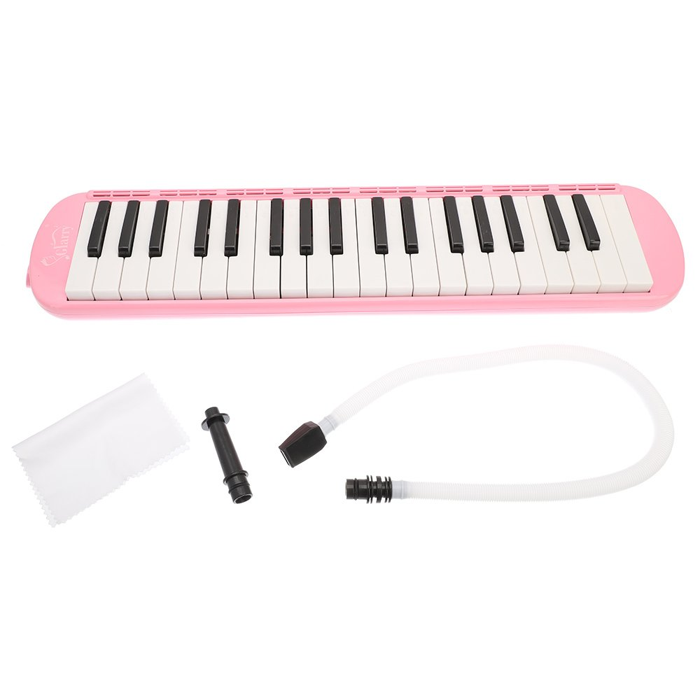 Glarry 37-Key Melodica with Mouthpiece & Hose & Bag Pink by funning (Image #3)