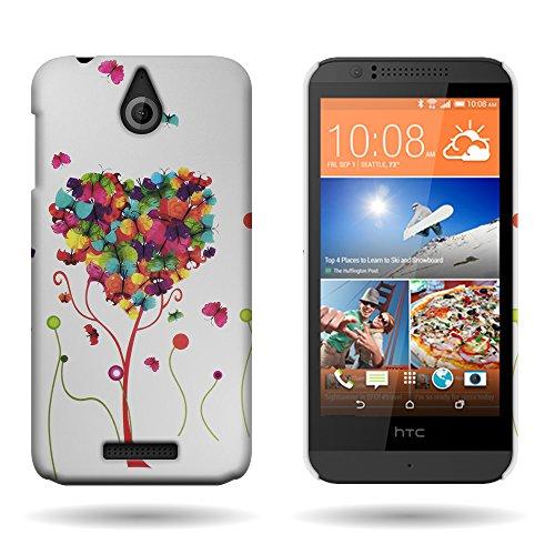 HTC Desire 510 Case, CoverOn Ultra Slim Matte Hard Case for HTC Desire 510 (2014) - Butterfly Heart