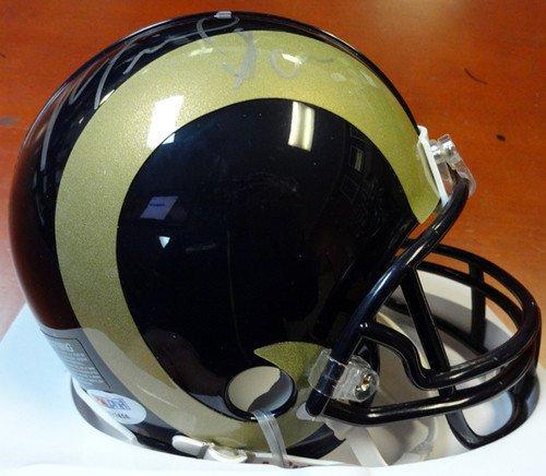 Michael Sam Signed St. Louis Rams Replica Mini Helmet - Certified Genuine Autograph By PSA/DNA - Autographed Football Helmet