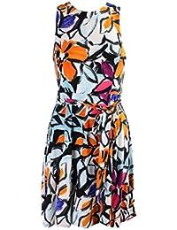 Lauren Ralph Lauren Petite Orange Multi Floral Jersey...