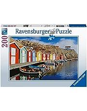 Ravensburger Vuxenpussel 13315 Ravensburger 13315-Colorful Scandinavian Houses-200 bitar pussel för vuxna och barn från 14 år [Exklusivt på Amazon]
