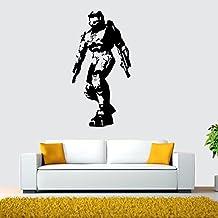 Fange DIY Removable Halo Shot Game Master Chief Art Mural Vinyl Waterproof Wall Stickers Kids Room Decor Nursery Decal Sticker Wallpaper29.5''x15.7''(Halo)