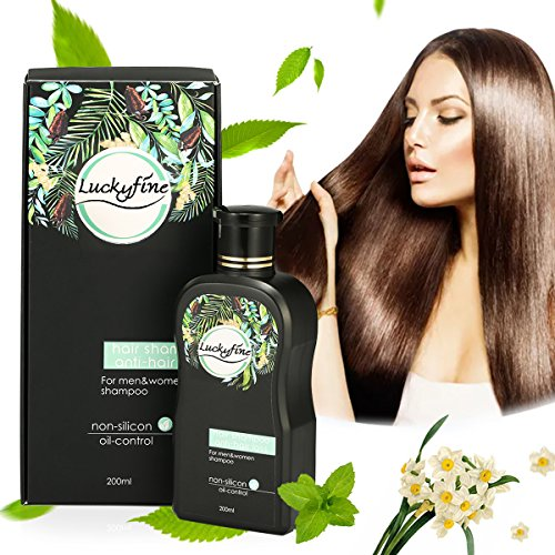Anti-Hair Loss Shampoo For Men & Women, LuckyFine – Contains Herbal Ingredients, Helps Stop Hair Loss, Hair Growth, Stimulates Hair Re-growth Dandruff Treatment 200ML by Luckyfine (Image #2)
