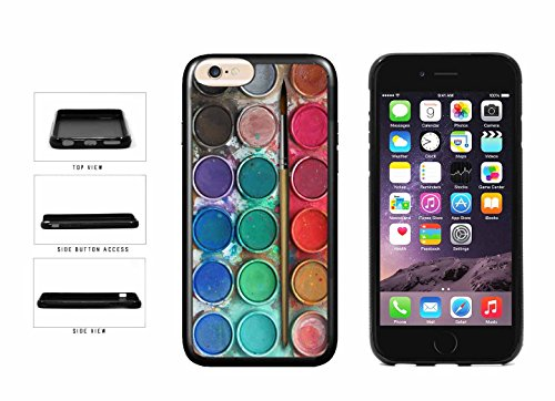 Messy Watercolor Paint Palette TPU RUBBER SILICONE Phone Case Back Cover Apple iPhone 6 6s (4.7 inches screen) includes BleuReign(TM) Cloth and Warranty Label