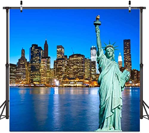 Zhy 5X7FT Statue of Liberty Backdrop Newyork City Independence Day Pictures Photography Background Adult Artistic Portrait Photoshoot Props CHE105