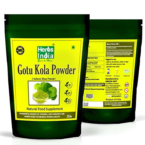 Brahmi Powder 16 Ounces (1 Pound), Bacopa Monnieri/Gotu Kola Powder - Premium Grade - HerbsIndia