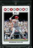 Pedro Feliz - Philadelphia Phillies - 2008 Topps Updates & Highlights Baseball Card in Protective Screwdown Display Case!