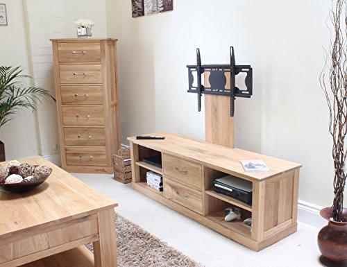 mobel oak mounted widescreen television cabinet brown baumhaus amazon de kuche haushalt