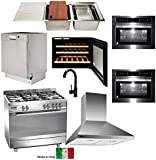 Appliance Package - 90cm Freestanding Electric Oven Cooker (9 components)