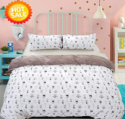 Rabbit Duvet Cover Sets Full/Queen Cotton Kids Boys, used for sale  Delivered anywhere in USA